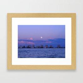 Moon over Fort Myers Framed Art Print