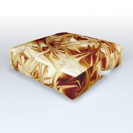 Warped Brown Outdoor Floor Cushion