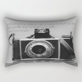 Dorothea Lange Quote Vintage Camera Rectangular Pillow