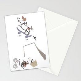 kidcandoodle Ollie skate dog Stationery Cards