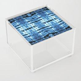Indigo Satin Shibori Acrylic Box
