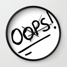 OOPS! (OOPS HI COMBO) Wall Clock