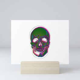 Skull Digital Drawing Mini Art Print