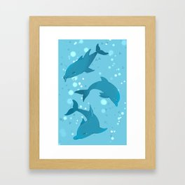 Blue Dolphin Framed Art Print