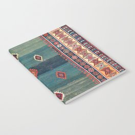 Sivas Antique Turkish Niche Kilim Print Notebook