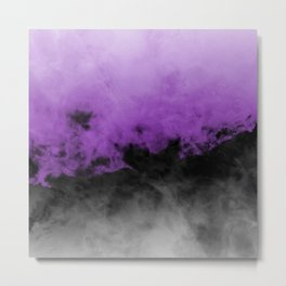 Zero Visibility Radiant Orchid Metal Print