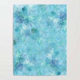 Blue Galaxy Poster