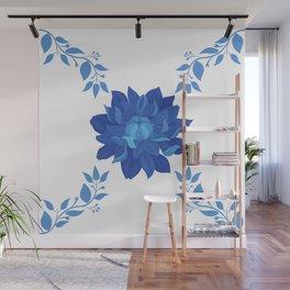 little blue flower Classic Wall Mural