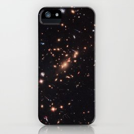 138. Hubble Uses Gravitational Lens to Capture Disk Galaxy iPhone Case