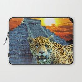 Chichen Itza Temple Guardian - South American Jaguar Laptop Sleeve