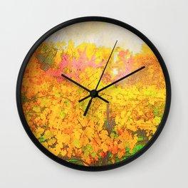 Autumn Vines Wall Clock