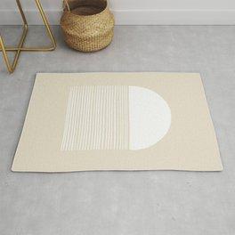 Linen Inverted White Scale Shutter Rug