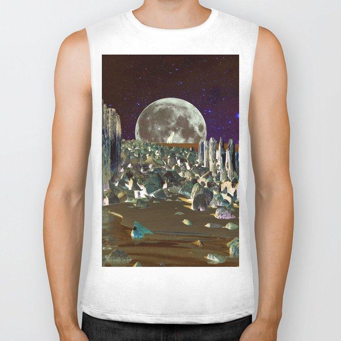 wolf moon nigth Biker Tank