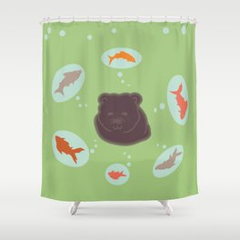 Grizzly dreams Shower Curtain