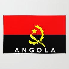 Angola country flag name text Rug