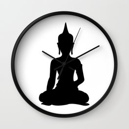 Simple Buddha Wall Clock