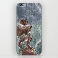 shadow of the colossus iPhone & iPod Skins featuring Arrietty and the Colossus by Josh Mauser