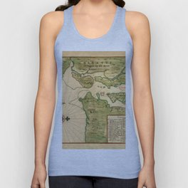 Map Of New York 1639 Unisex Tank Top