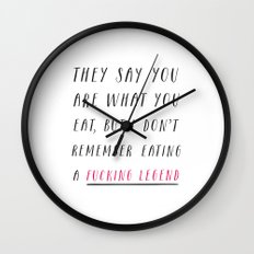 They Say You Are What You Eat Wall Clock