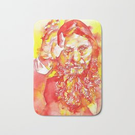 GRIGORI RASPUTIN - watercolor portrait.1 Bath Mat