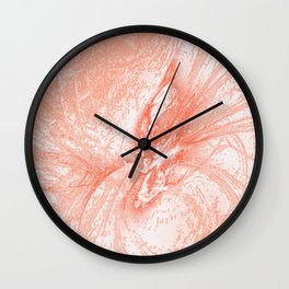 Splatter in Guava Wall Clock