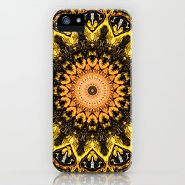 Gold Star Bohemian Mandala Design iPhone Case