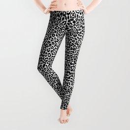 Leopard Pattern (Black and White) Leggings