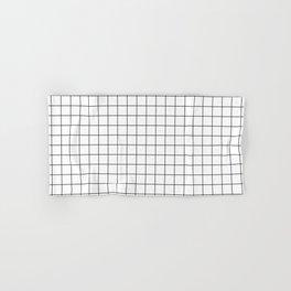 Black and White Grid Hand & Bath Towel