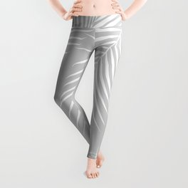Gray Tropical Pattern Leggings