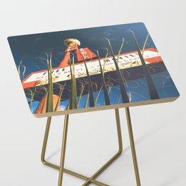free movies ! Las Vegas vintage Neon Motel sign Side Table