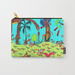 Dinosaur Battle_2 Carry-All Pouch