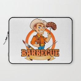 Cowboy Barbecue Chef  Laptop Sleeve