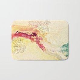 Watercolor doodles background texture Bath Mat