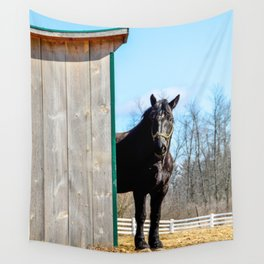Percheron Horse by Teresa Thompson Wall Tapestry