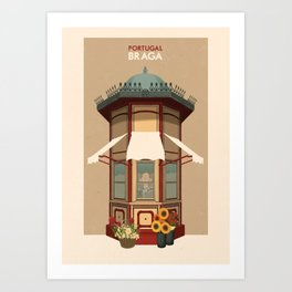 Portugal - Braga Art Print