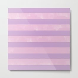 Light Pink & Purple Digital Design Metal Print