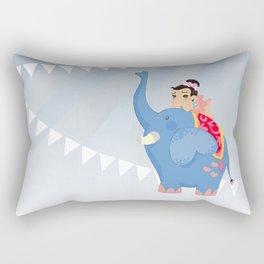Blue Circus Rectangular Pillow