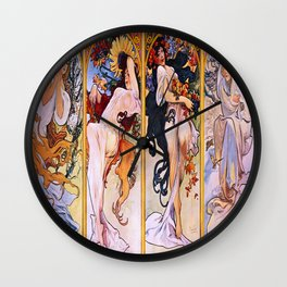 Vintage poster - Four Seasons Wall Clock