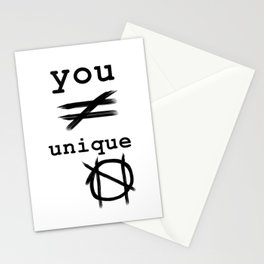 you do not equal unique Stationery Cards