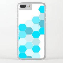 Honeycomb - Turq Clear iPhone Case