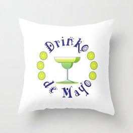 Festive Drinko de Mayo Mexican Holiday Throw Pillow