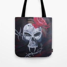 Gunshot of Roses Tote Bag
