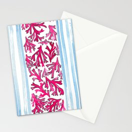 Watercolor Coral Stationery Cards