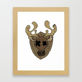 Stupid Deer Framed Art Print