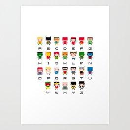 Superhero Alphabet Art Print