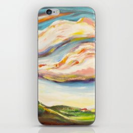 Color clouds in the valey iPhone Skin
