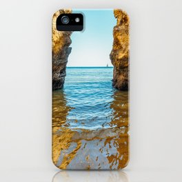 Rocks And Ocean Landscape In Lagos, Wall Art Print, Landscape Art, Poster Decor, Large Photo iPhone Case