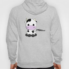Cute baby cow cartoon Hoody