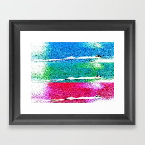 Big Buzz Framed Art Print