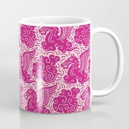 Pegasus Pattern Pink and Raspberry Coffee Mug